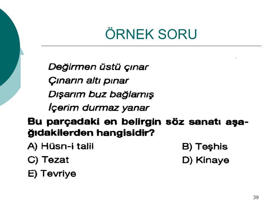 ÖRNEK SORU 39