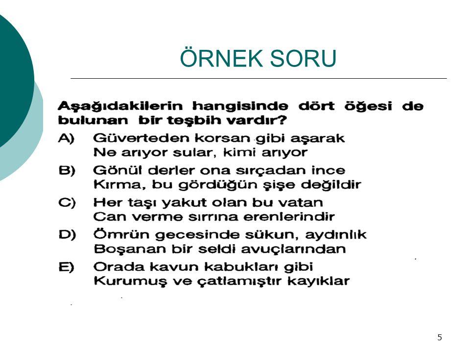 ÖRNEK SORU 5