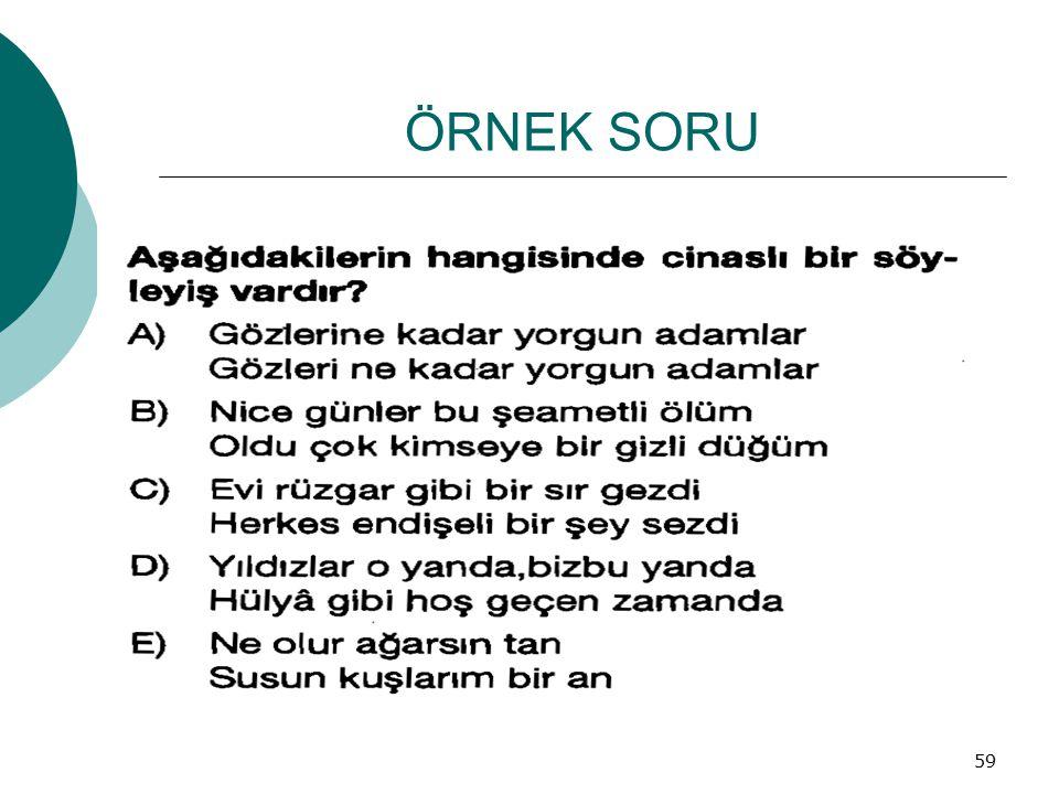 ÖRNEK SORU 59