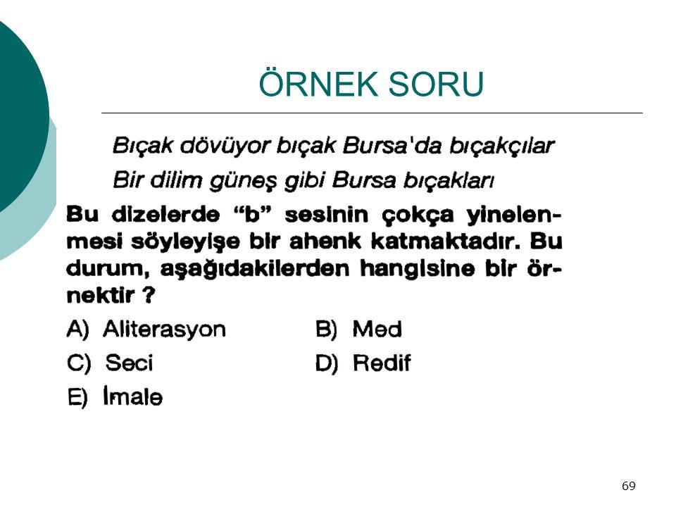 ÖRNEK SORU 69