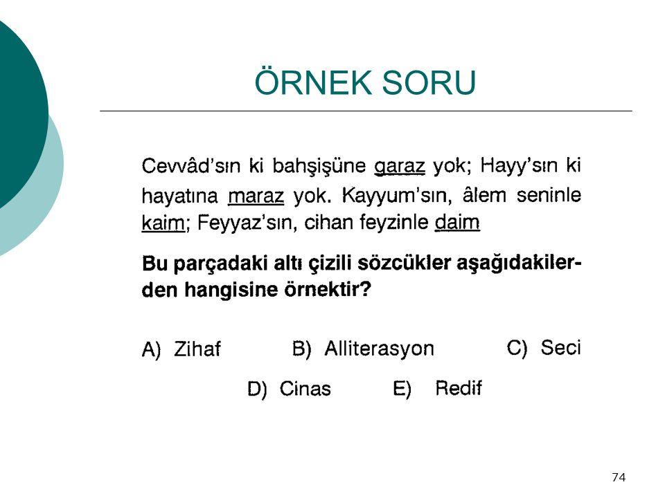 ÖRNEK SORU 74