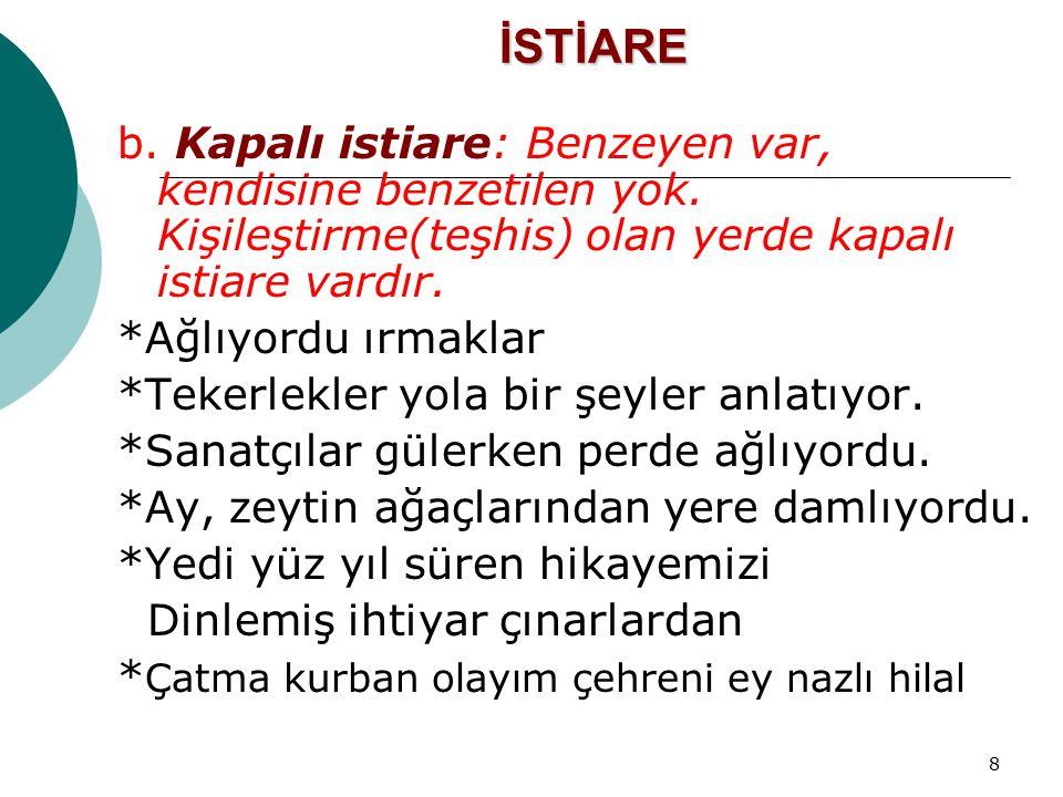 79 ÖRNEK SORULAR Yapıtlarında daha çok kırsal kesim insanlarını anlatan birkaç yazar, Yakup Kadri Karaosmanoğlu'yla görüşmeye gider.