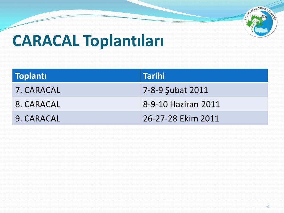 CARACAL Toplantıları ToplantıTarihi 7. CARACAL7-8-9 Şubat 2011 8.