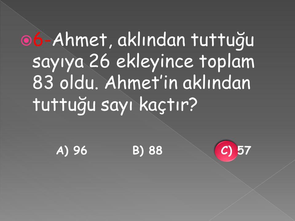  7-Aylin, iki günde toplam 75 soru çözdü.