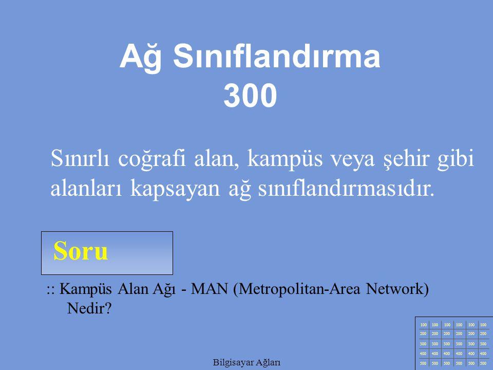 Bilgisayar Ağları Soru 100 200 300 400 500 Bilgisayar Ağları :: Geniş Alan Ağı - Wide-Area Network (WAN) Nedir.
