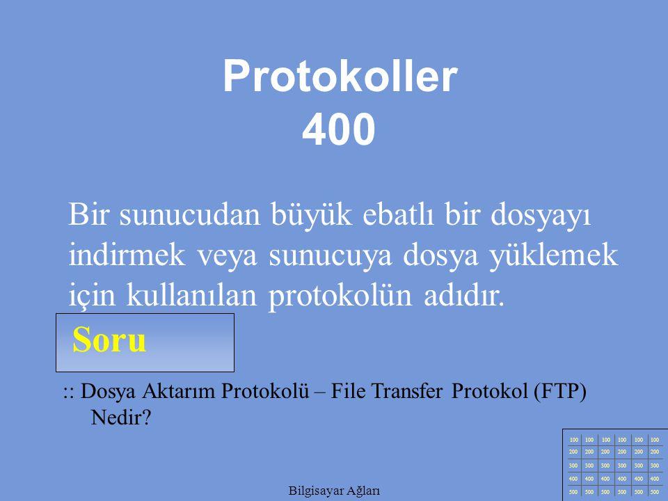 Bilgisayar Ağları Soru 100 200 300 400 500 Bilgisayar Ağları :: Basit Posta Aktarım Protokolü - Simple Mail Transfer Protocol 'ün Kısa Adı Nedir.