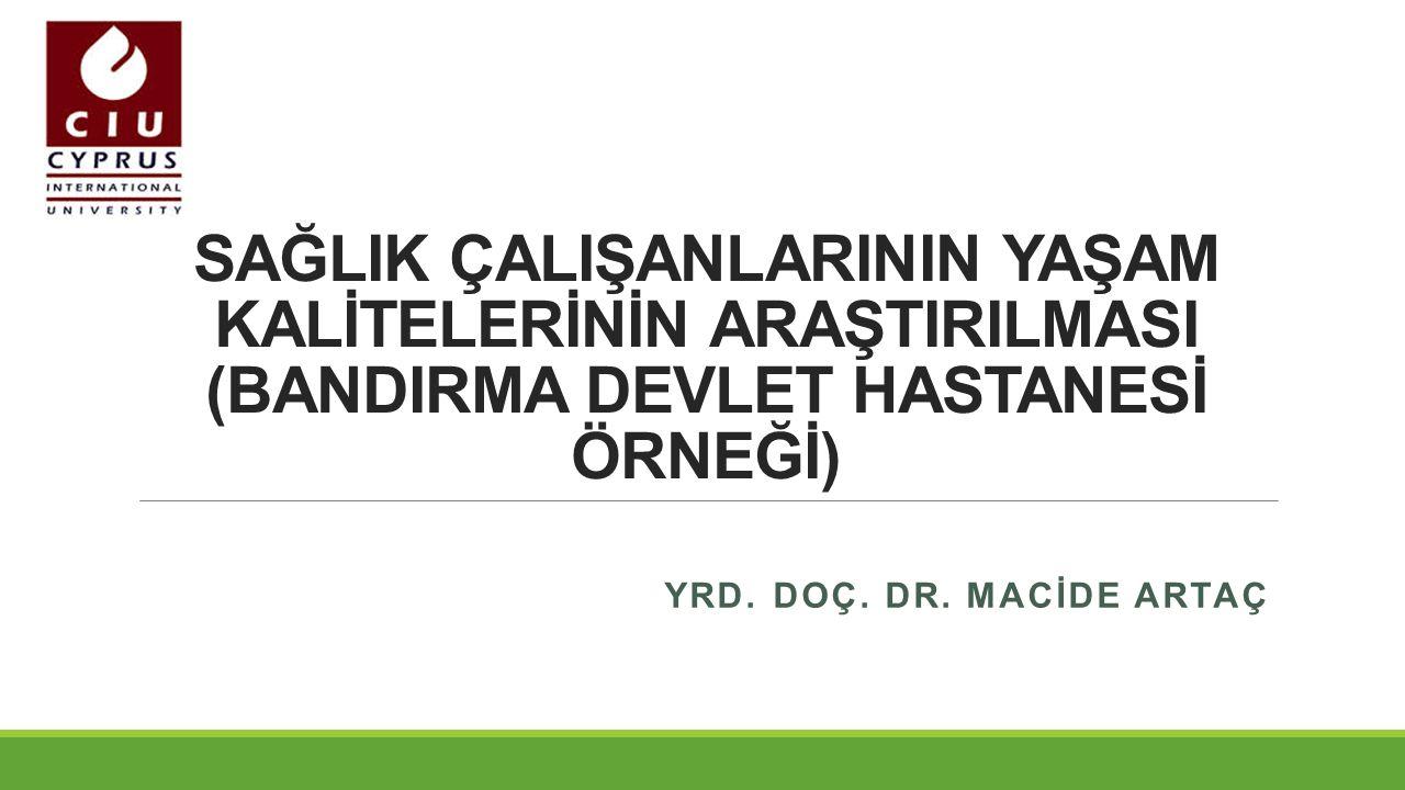 İÇERİK  GİRİŞ  Yaşam Kalitesi ve Çalışma Koşulları  Sağlık Çalışanı ve Yaşam Kalitesi  Sağlık Hizmetlerinde Verimlilik ve Motivasyon  Türkiye'de Sağlık Çalışanının Yaşam Kalitesi  AMAÇ ve METOD  BULGULAR  SONUÇ