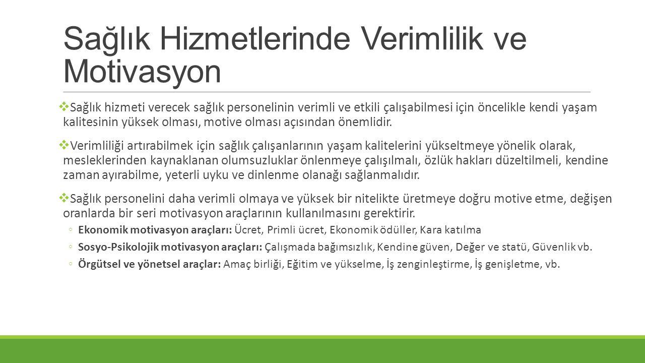 Türkiye'de Sağlık Çalışanının Yaşam Kalitesi  Türkiye' de sağlık hizmetlerinde görev yapmakta olan sağlık personeli pek çok sorunla karşı karşıya kalarak hizmet sunmaya çalışmaktadır.