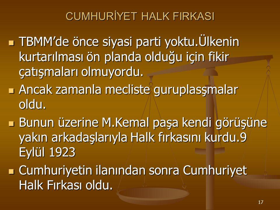 16 ÇOK PARTİLİ REJİM DENEMELERİ Siyasi partiler demokrasinin vazgeçilmez unsurlarıdır. Siyasi partiler demokrasinin vazgeçilmez unsurlarıdır. M.Kemal