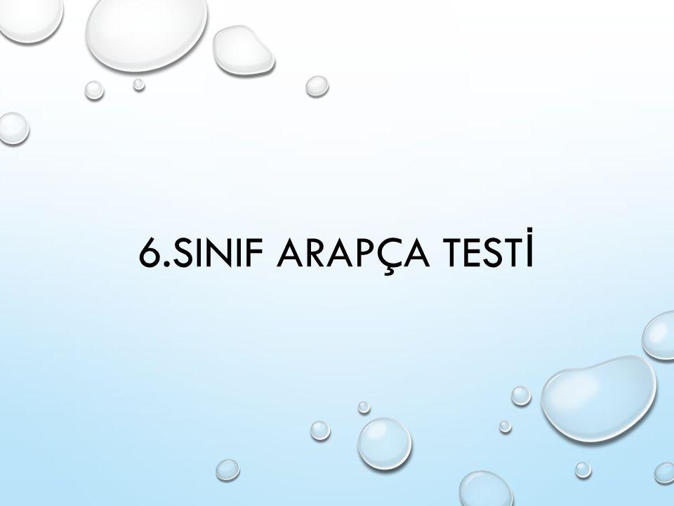 6.SINIF ARAPÇA TEST İ