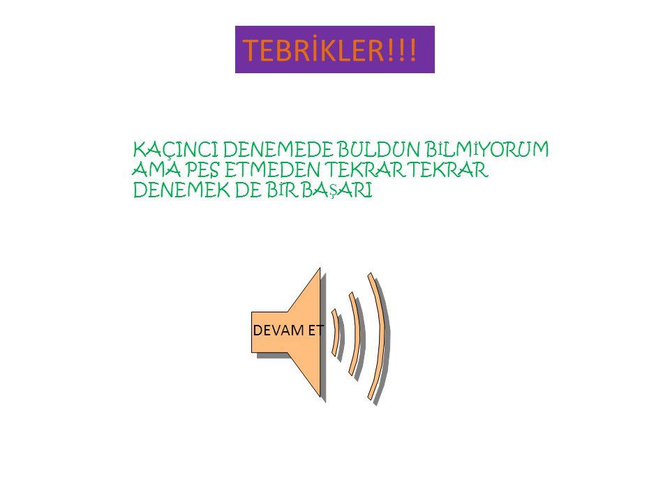 TEBRİKLER!!.