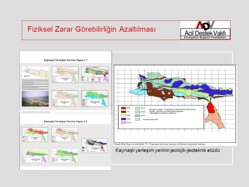Kaynaşlı yerleşim yerinin jeolojik-jeoteknik etüdü Fiziksel Zarar Görebilirliğin Azaltılması