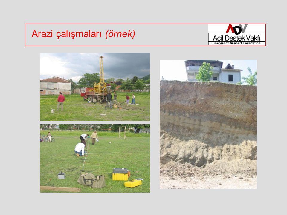 Arazi çalışmaları (örnek)