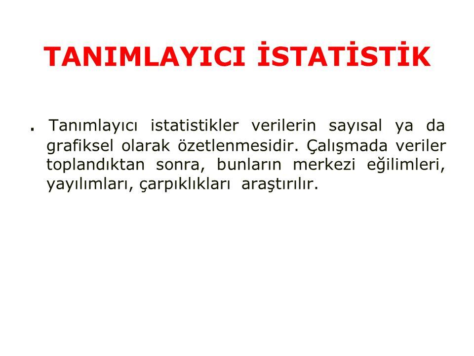 TANIMLAYICI İSTATİSTİK.
