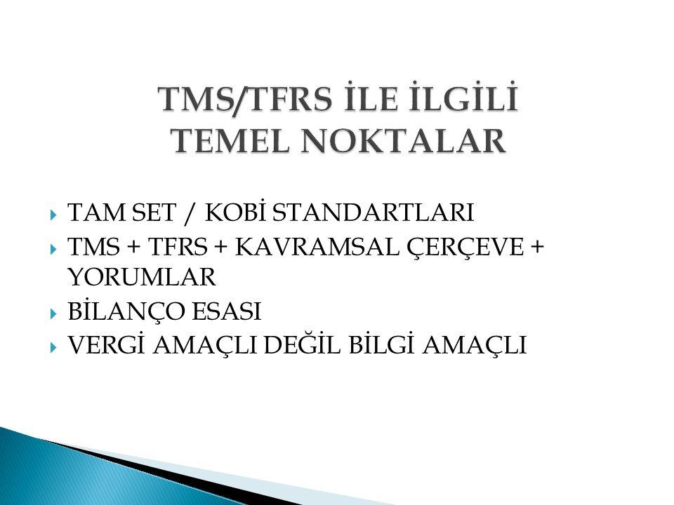 a.TMS Açısından: a.