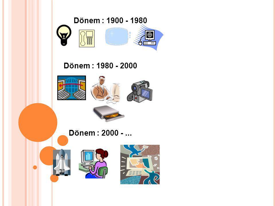 Dönem : 1900 - 1980 Dönem : 1980 - 2000 Dönem : 2000 -...