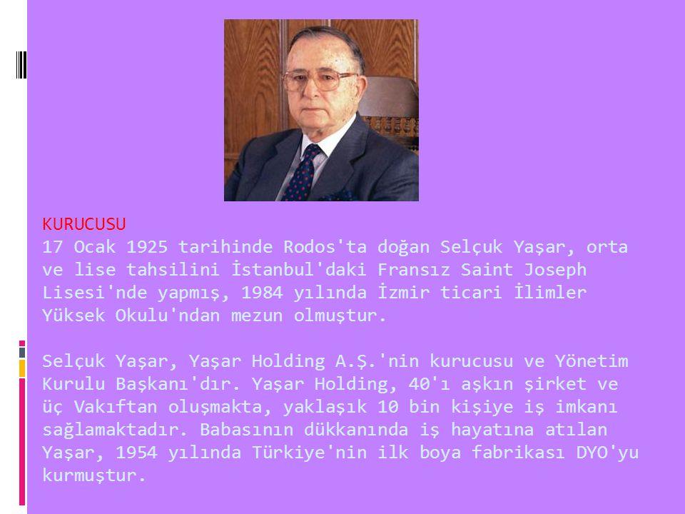KURUCUSU 17 Ocak 1925 tarihinde Rodos ta doğan Selçuk Yaşar, orta ve lise tahsilini İstanbul daki Fransız Saint Joseph Lisesi nde yapmış, 1984 yılında İzmir ticari İlimler Yüksek Okulu ndan mezun olmuştur.