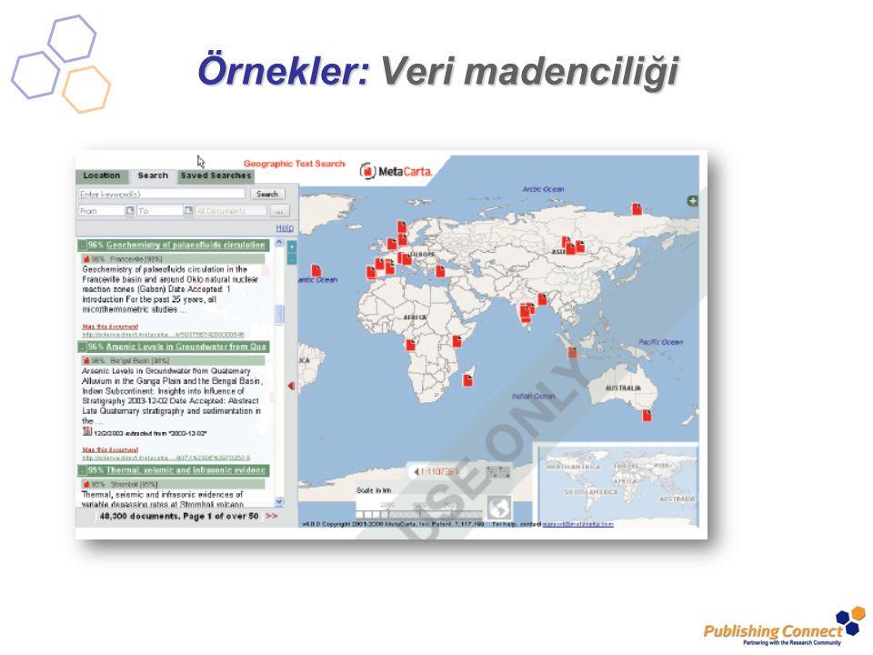 Örnekler: Veri madenciliği