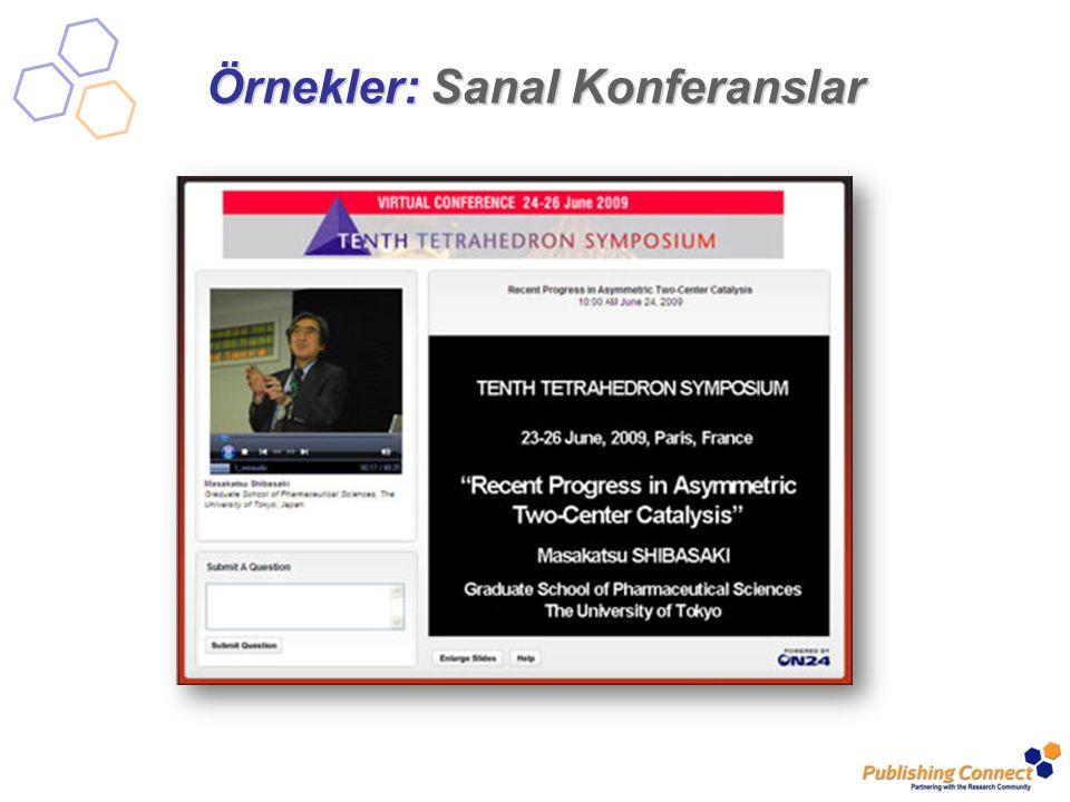 Örnekler: Sanal Konferanslar