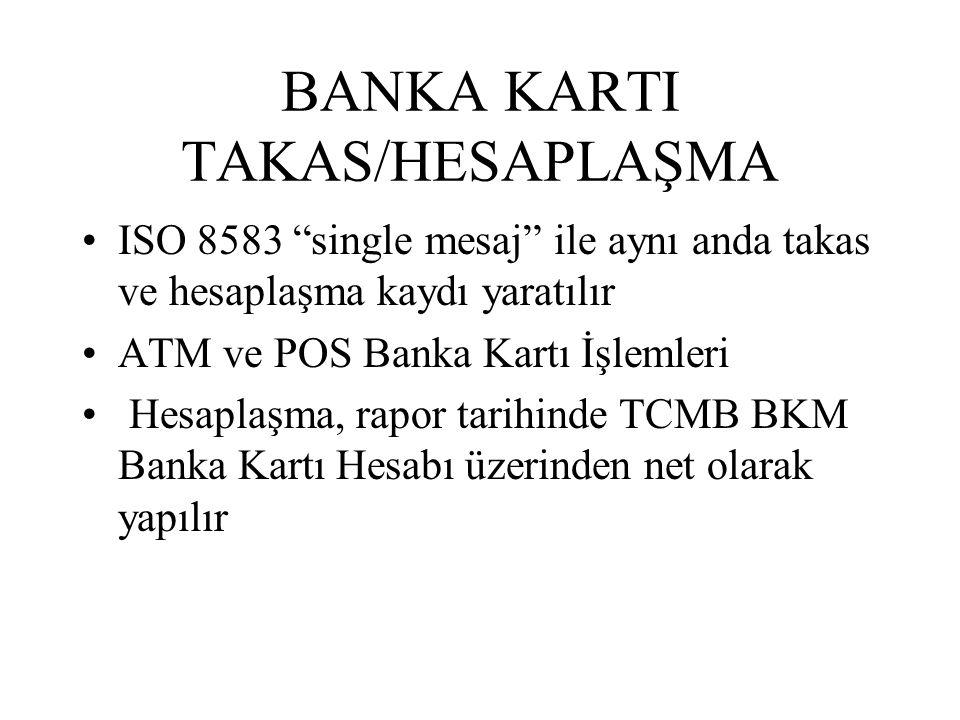 """BANKA KARTI TAKAS/HESAPLAŞMA ISO 8583 """"single mesaj"""" ile aynı anda takas ve hesaplaşma kaydı yaratılır ATM ve POS Banka Kartı İşlemleri Hesaplaşma, ra"""