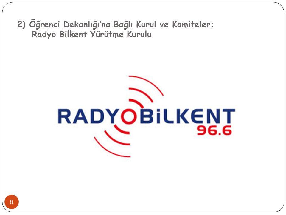 2) Öğrenci Dekanlığı'na Bağlı Kurul ve Komiteler: Radyo Bilkent Yürütme Kurulu 8