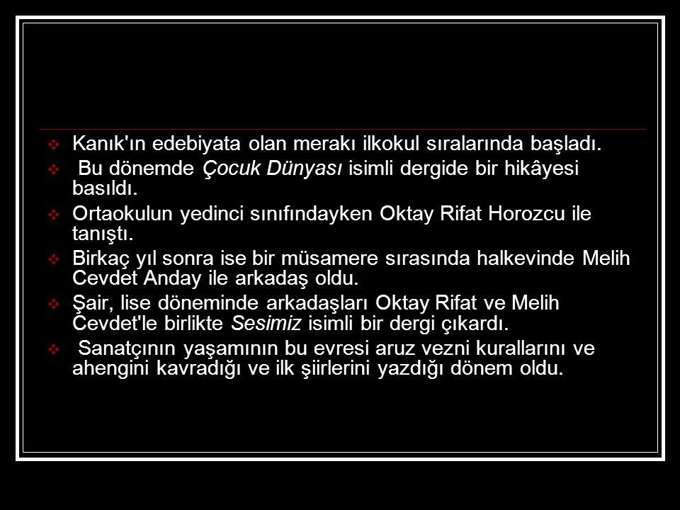 ETKİLERİ:  Orhan Veli nin öncüsü olduğu Garip akımı dönemin genç şairlerine örnek oldu.