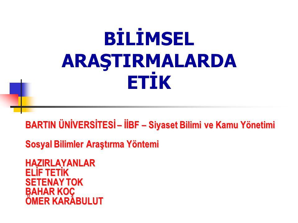 BİLİMSEL ARAŞTIRMALARDA ETİK SETENAY TOK B-Ü (2.