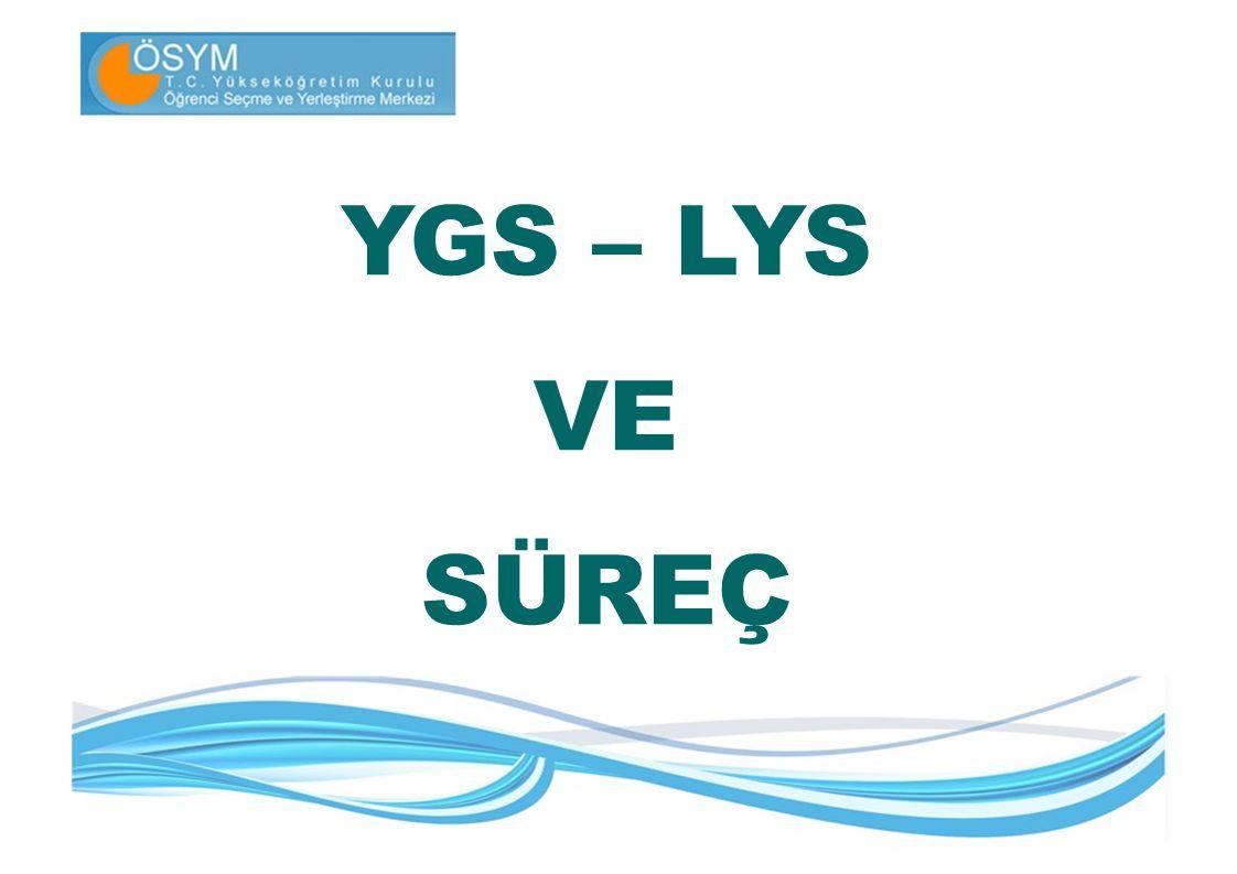 Sınava Girecek Aday Sayıları 2010 yılında YGS: 1.487.626 LYS: 1.899.569 (Tüm Sınavlar toplamı) Aday sınava girmiştir.