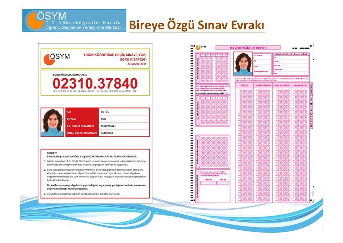 2011- ÖSYS İkinci Aşama : Lisans Yerleştirme Sınavları (LYS) 1.
