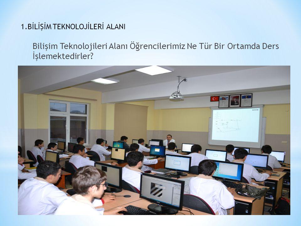 1.BİLİŞİM TEKNOLOJİLERİ ALANI Bilişim Teknolojileri Alanı Öğrencilerimiz Ne Tür Bir Ortamda Ders İşlemektedirler?