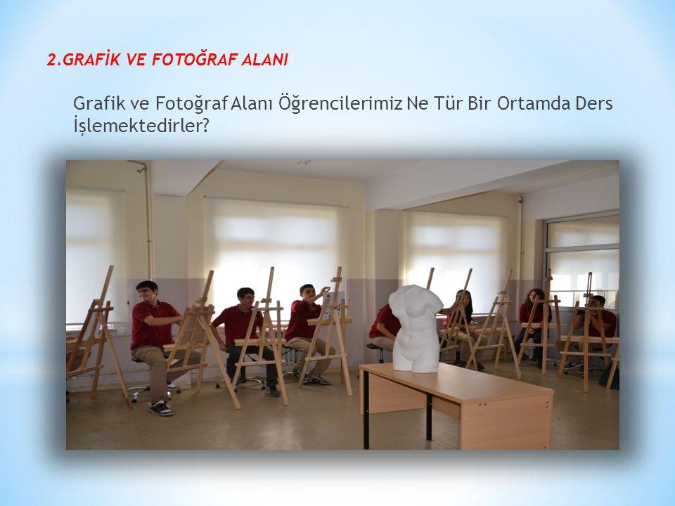 2.GRAFİK VE FOTOĞRAF ALANI Grafik ve Fotoğraf Alanı Öğrencilerimiz Ne Tür Bir Ortamda Ders İşlemektedirler?