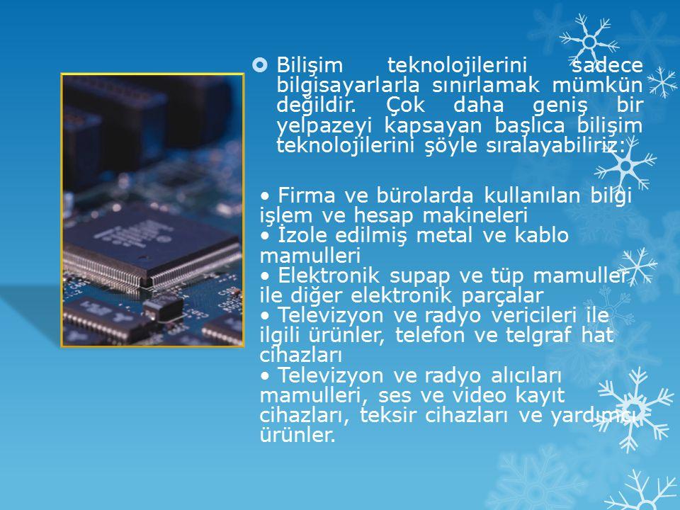 B İ lg İ ve İ LET İŞİ M Teknoloj İ ler İ BBilgi ve iletişim teknolojileri, bilgiye ulaşılmasını ve bilginin oluşturulmasını sağlayan her türlü görse