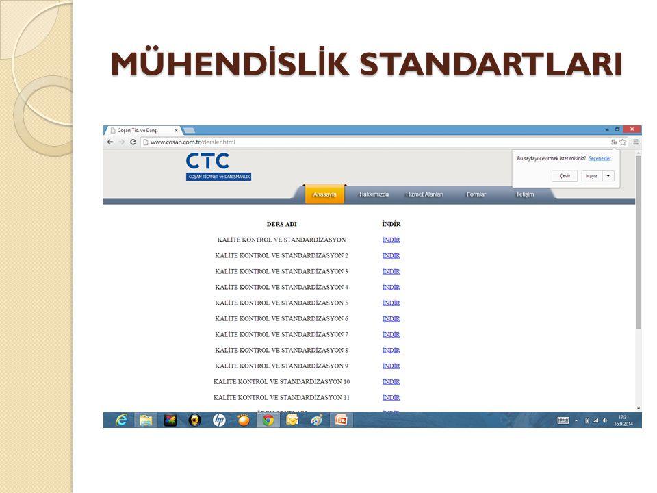 Madde Standartları Bu standart ürünün üretilmesinde kullanılan fakat henüz üretim sürecine girmemiş hammaddelere ilişkin standartları ifade eder.