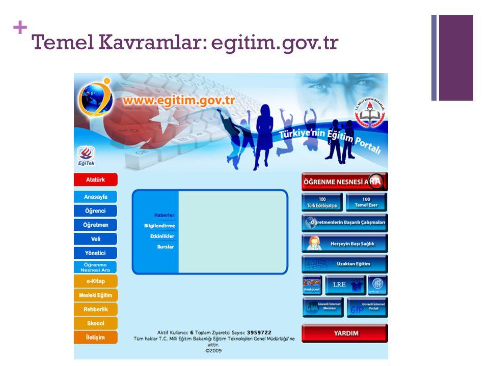 + Temel Kavramlar: egitim.gov.tr