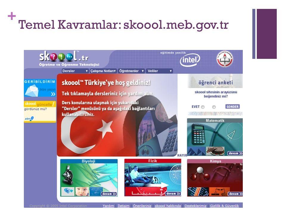 + Temel Kavramlar: skoool.meb.gov.tr