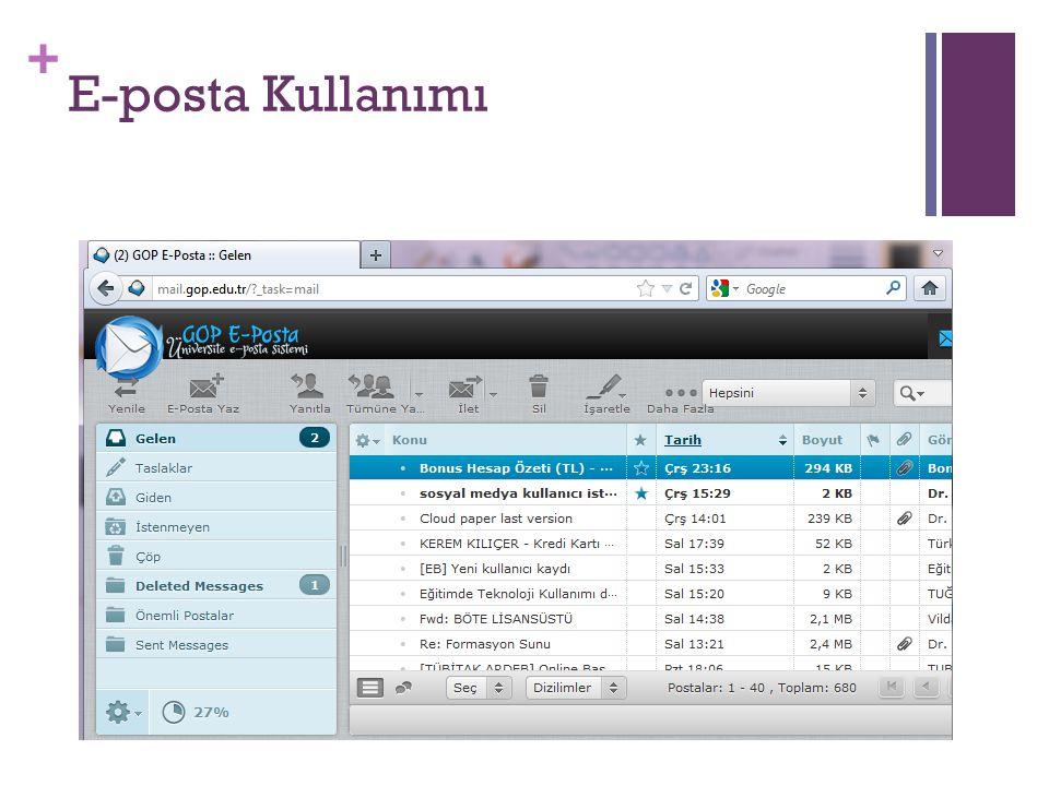 + E-posta Kullanımı
