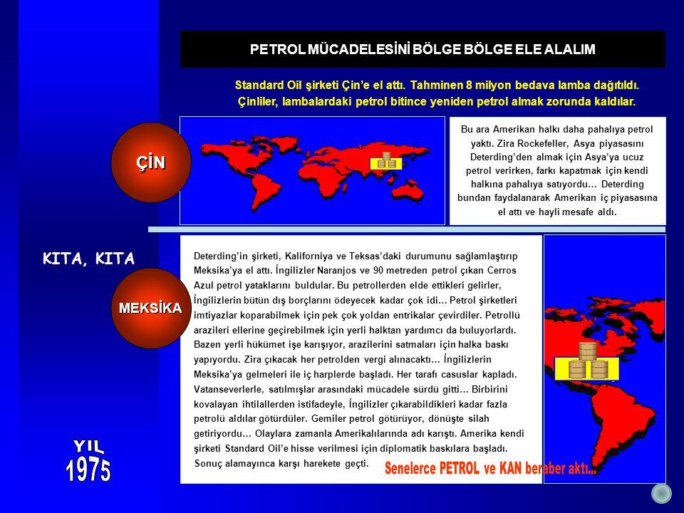 KITA, KITA Bu ara Amerikan halkı daha pahalıya petrol yaktı. Zira Rockefeller, Asya piyasasını Deterding'den almak için Asya'ya ucuz petrol verirken,