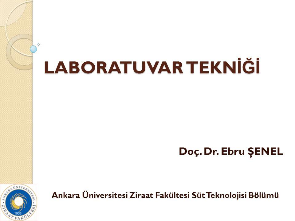 LABORATUVAR TEKN İĞİ Doç. Dr. Ebru ŞENEL Ankara Üniversitesi Ziraat Fakültesi Süt Teknolojisi Bölümü