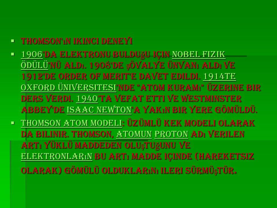 Atom İ çin Çal ış an Bilim Adamlar ı  Ernest Rutherford  Niels Bohr  Albert Einstein  Enrico Fermi