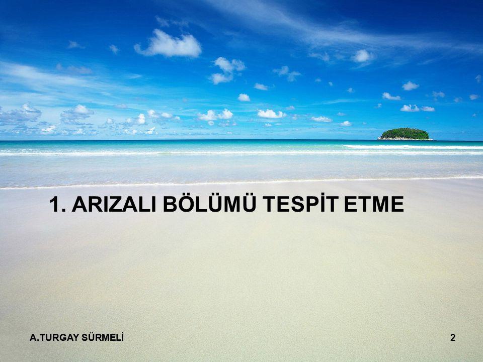 A.TURGAY SÜRMELİ 2 1. ARIZALI BÖLÜMÜ TESPİT ETME