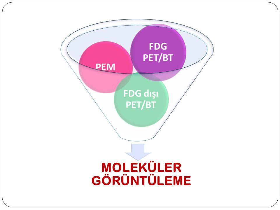 MOLEKÜLER GÖRÜNTÜLEME PEM FDG dışı PET/BT FDG PET/BT
