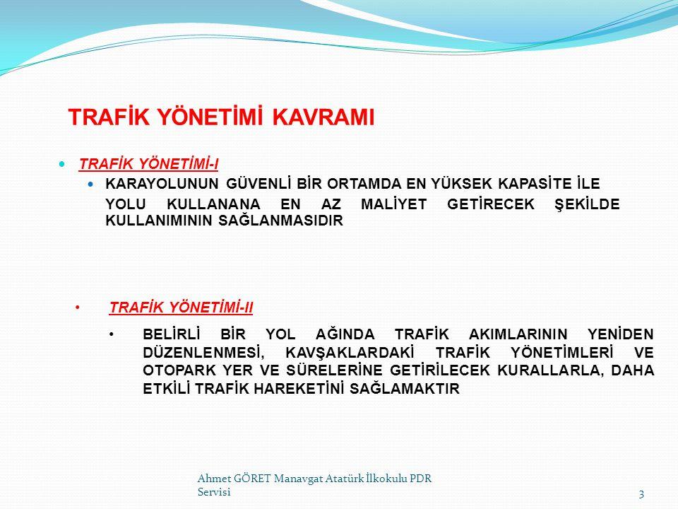 TRAFİĞİ YAVAŞLATMA HAREKETİ SOL KOL Ahmet GÖRET Manavgat Atatürk İlkokulu PDR Servisi14