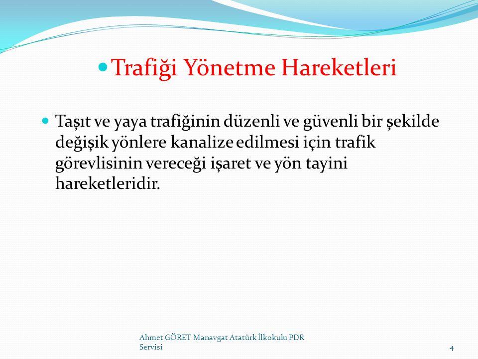 KIRMIZI IŞIKTA AKIMI ÇEKME İŞARETİ Ahmet GÖRET Manavgat Atatürk İlkokulu PDR Servisi25 BİR KAVŞAKTA TRAFİK POLİSİNİN KIRMIZI IŞIĞA RAĞMEN AKIMI ÇEKMEK İSTEMESİ HALİNDE VERİLECEK İŞARET BİR KAVŞAKTA TRAFİK IŞIKLARI İLE İDARE EDİLMEKTE OLAN AKIMIN, TRAFİK POLİSİ TARAFINDAN YÖNETİLMEYE BAŞLANMASI VE KIRMIZI IŞIĞA RAĞMEN AKIMIN ÇEKİLMESİ İÇİN KULLANILIR HER İKİ KOL KIRILMADAN YUKARIYA KALDIRILIR VE HANGİ YÖNÜN YAKLAŞIMINDAKİ AKIM ÇEKİLECEKSE, BURADAKİ PERSONELE İŞARET EDİLİR