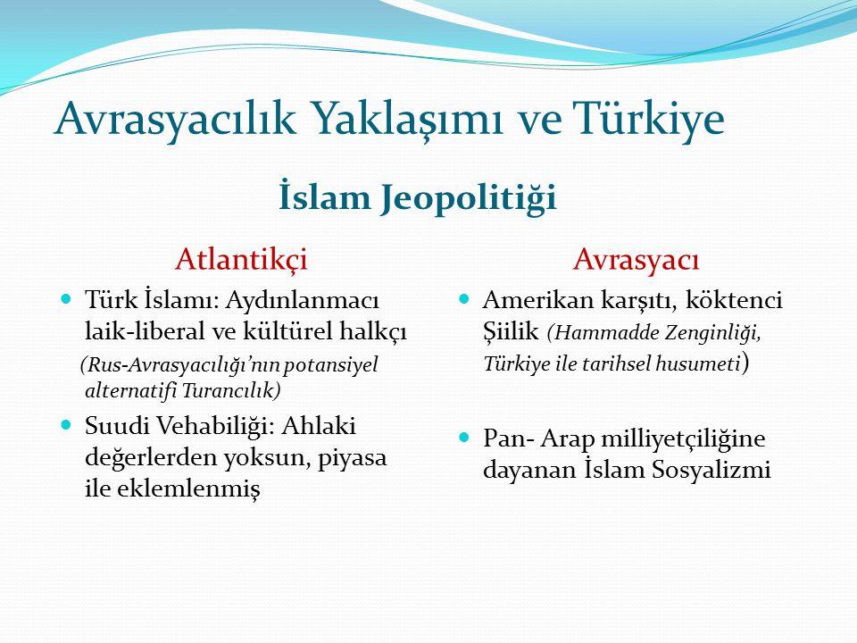 Avrasyacılık Yaklaşımı ve Türkiye İslam Jeopolitiği. Atlantikçi Türk İslamı: Aydınlanmacı laik-liberal ve kültürel halkçı (Rus-Avrasyacılığı'nın potan
