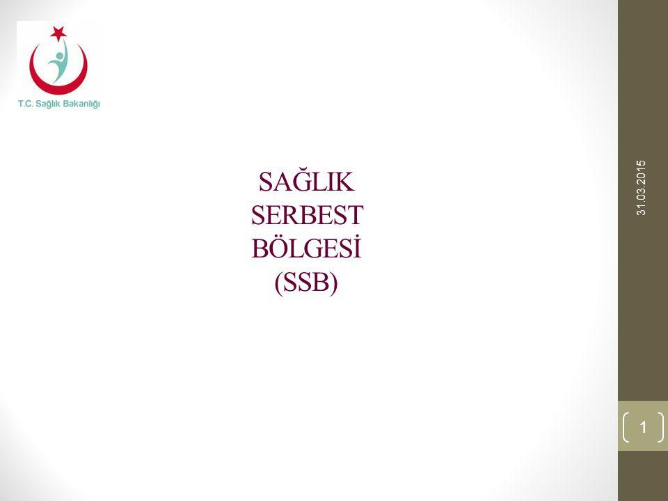 SAĞLIK SERBEST BÖLGESİ (SSB) 31.03.2015 1