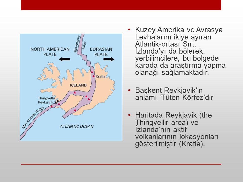 Kuzey Amerika ve Avrasya Levhalarını ikiye ayıran Atlantik-ortası Sırt, İzlanda'yı da bölerek, yerbilimcilere, bu bölgede karada da araştırma yapma ol