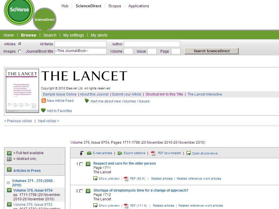 Journals Consult 2500 Elsevier dergisi içerisinden seçimlerinizi erişiminize ekleyiniz www.sciencedirect.com www.sciencedirect.com Tek tıklama ile eri