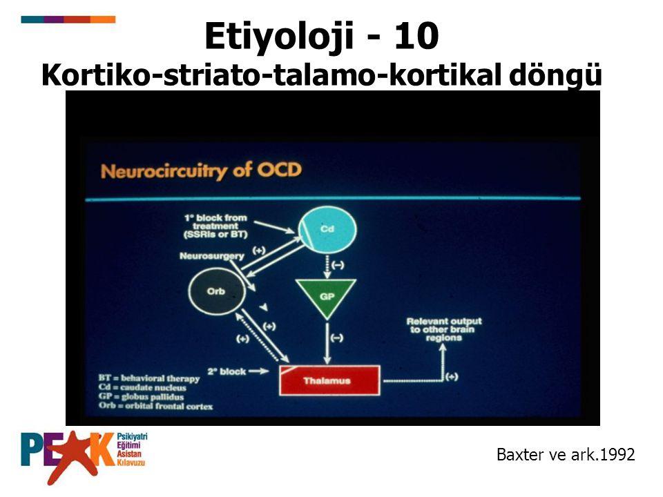 Etiyoloji - 10 Kortiko-striato-talamo-kortikal döngü Baxter ve ark.1992