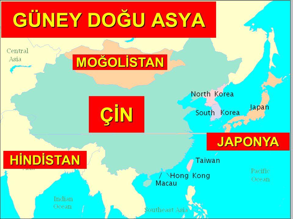 GÜNEY DOĞU ASYA ÇİN MOĞOLİSTAN HİNDİSTAN JAPONYA