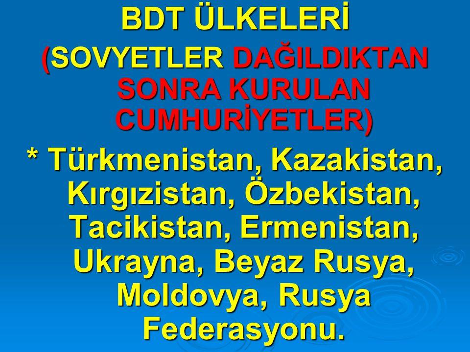 Aşağıdakilerden hangisi BDT ülkelerinden değildir.